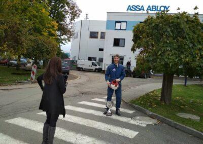 Focení zaměstnanců pro časopis v ASSA ABLOY