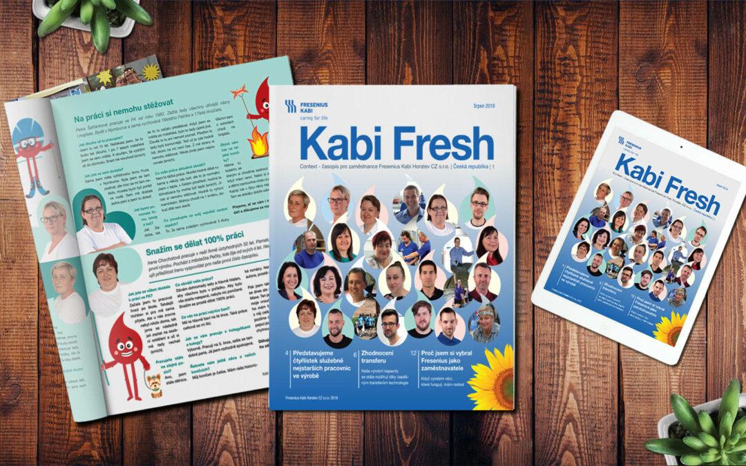 Zaměstnanecký časopis až do Hořátve u Poděbrad – Kabi Fresh