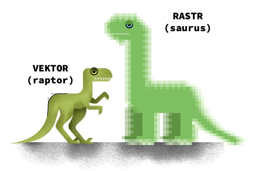 Vektor(aptor) vs rastr(osaurus)